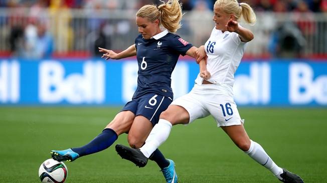 Le Sommer le da la victoria a Francia ante Inglaterra (1-0)