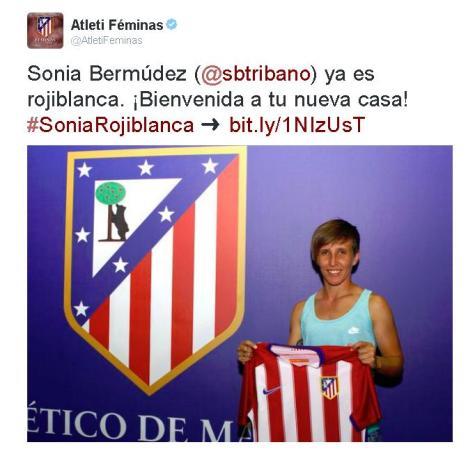 Sonia al Atleti Féminas