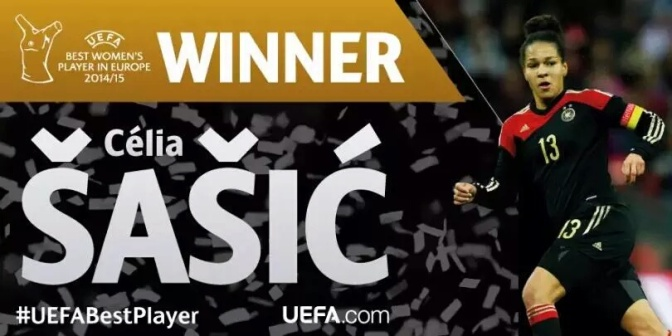 Celia Sasic, Mejor jugadora de Europa 2014/15