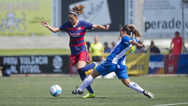 Foto Víctor Salgad: Olga García, en la final de la Copa Catalunya.