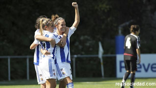 Foto Real Sociedad: las jugadoras del conjunto vasco se impusieron al Collerense.