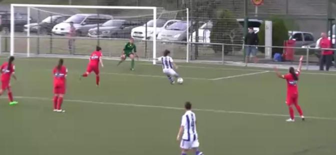 Foto Real Sociedad TV: Nahikari hace el 1-0 ante el Espanyol (minuto 70).