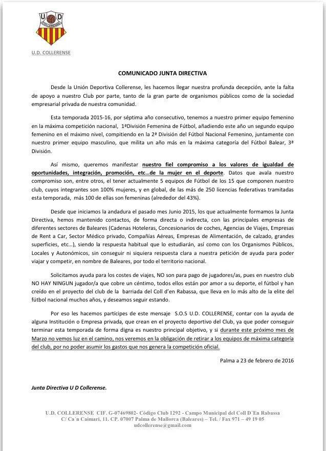 SOS UD Collerense