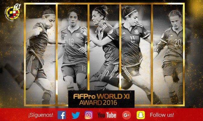 Cinco españolas, candidatas al FIFPro XI