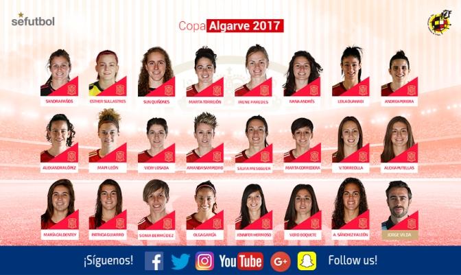 Lista oficial de Jorge Vilda para la Copa Algarve