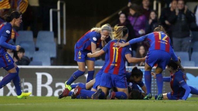 El Barcelona Femenino hace historia