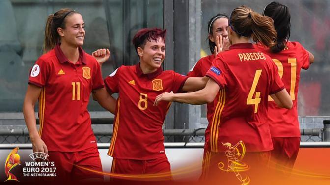 España vence y convence ante Portugal en su debut en la Euro 2017 (2-0)
